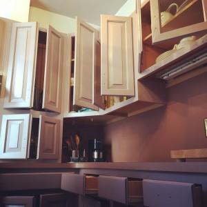 mauve cabinets