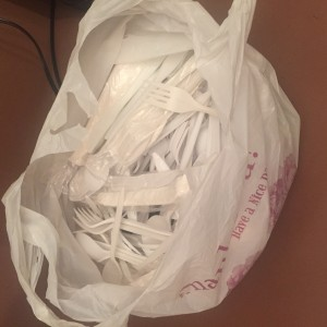 bag of cutlery